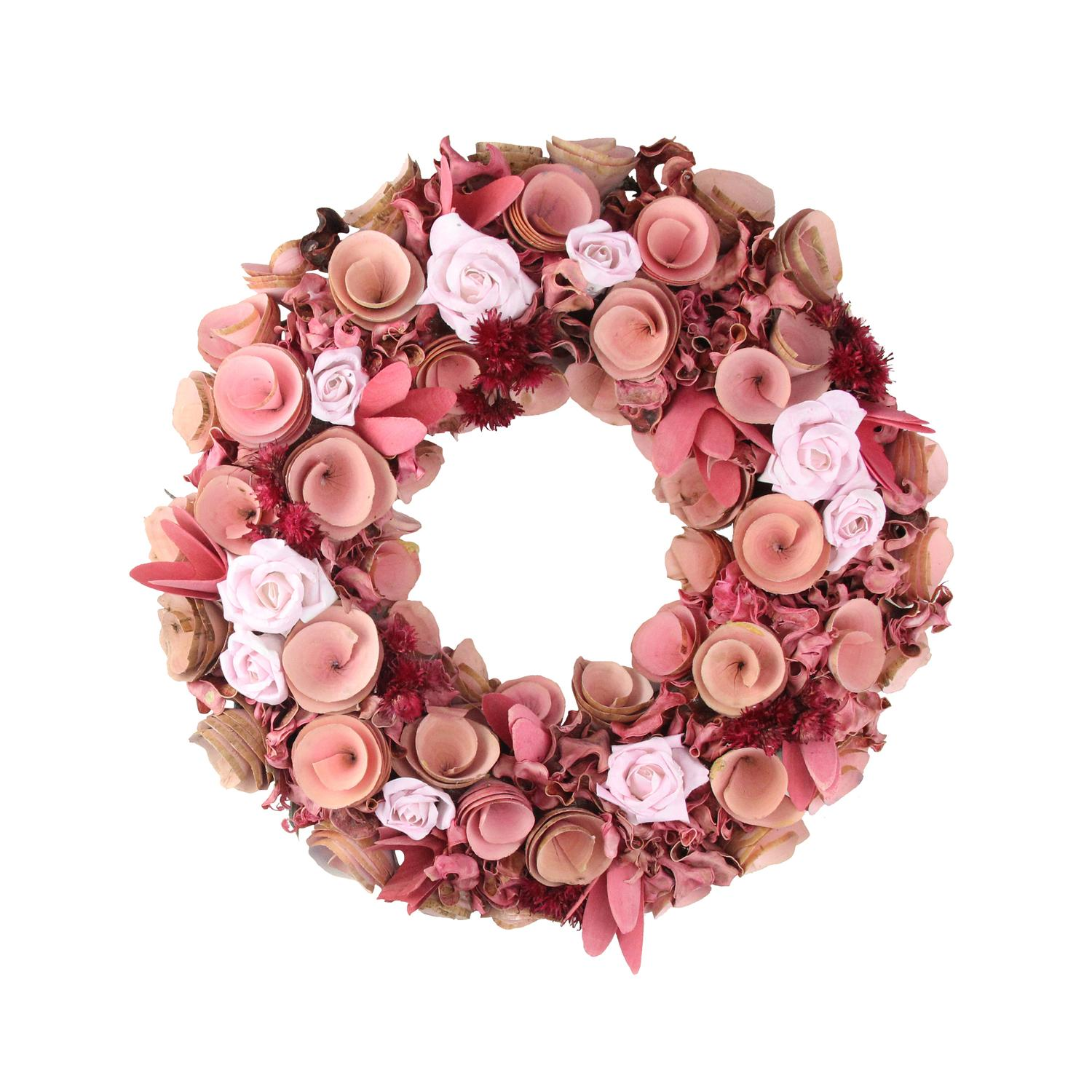 13 Pink And Red Flower And Leaf Wood Artificial Spring Floral