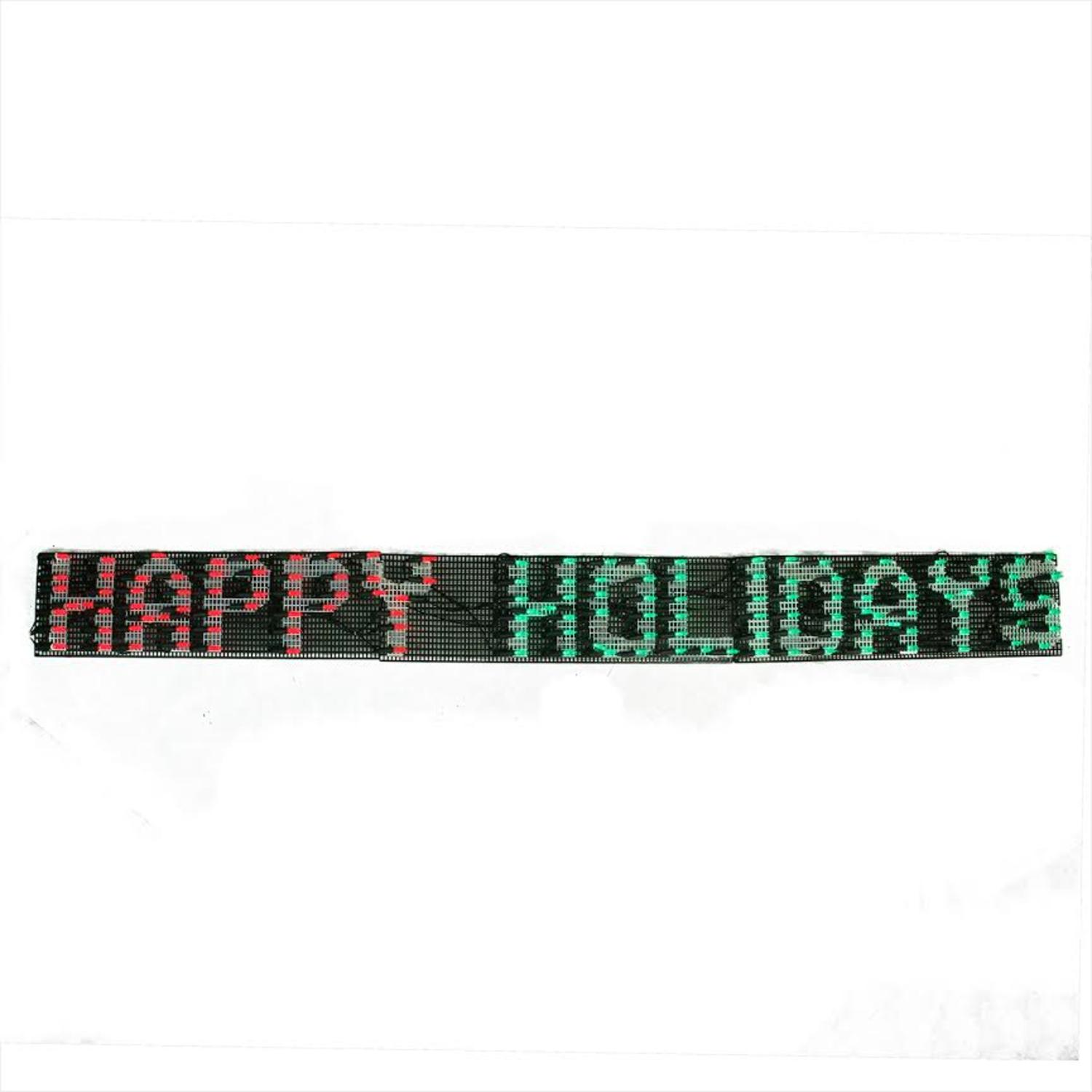 ''60'''' x 6'''' Happy HOLIDAYs LED Lighted Christmas Banner - Red and Green Lights''