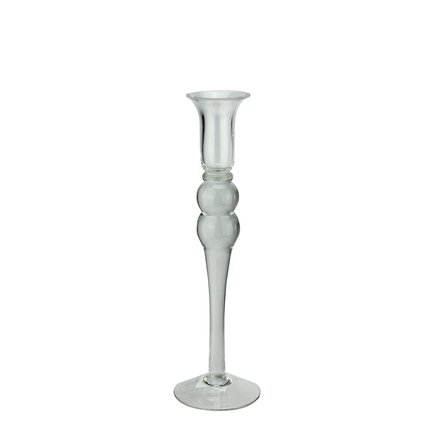 ''16.25'''' Transparent Glass TAPER CANDLE Holder''