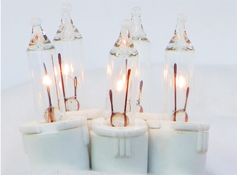 GKI Set of 50 Clear Perm-O-Snap Mini Christmas Lights - White Wire ...