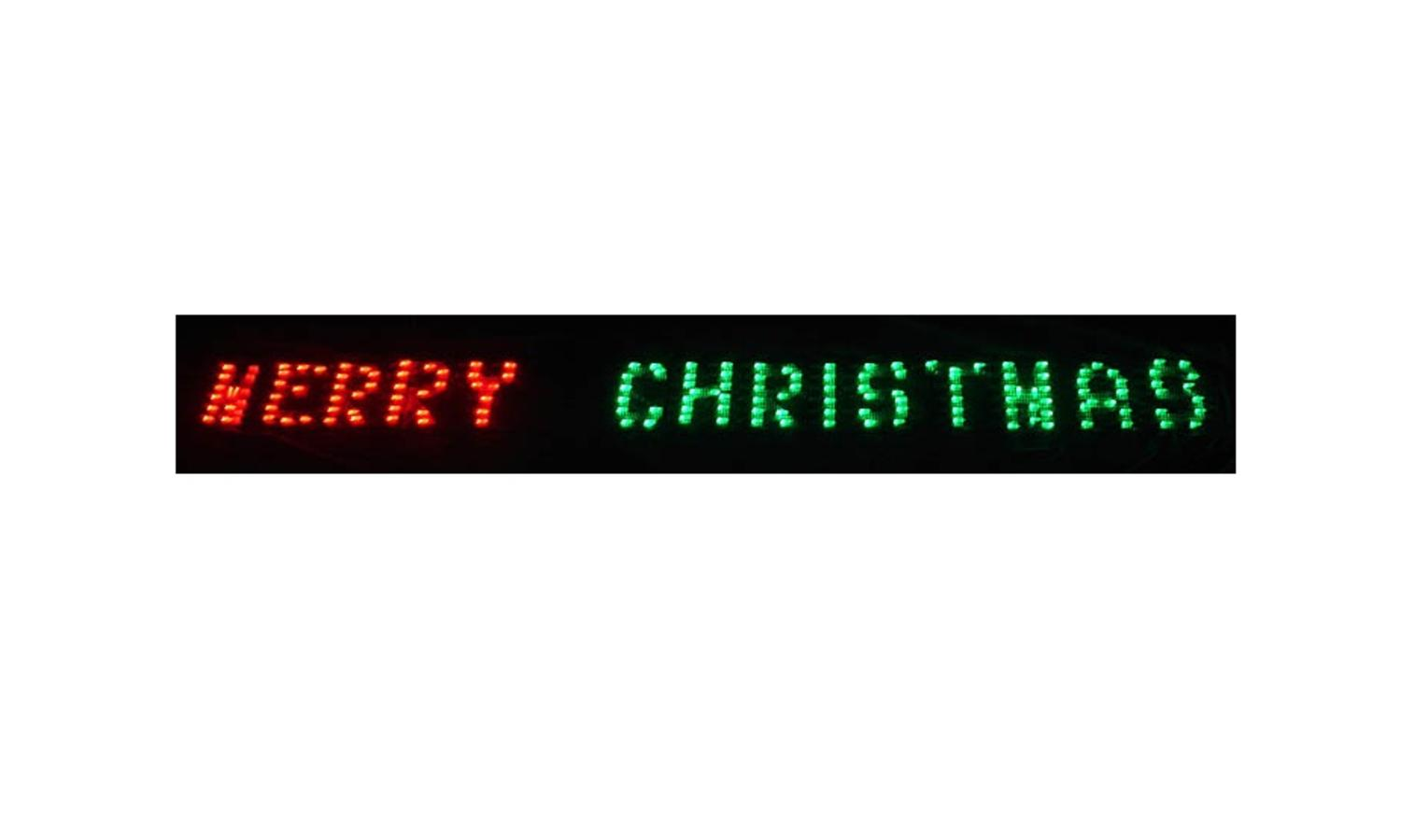 ''80'''' x 6'''' Merry Christmas LED Lighted HOLIDAY Banner - Red & Green Chasing Lights''