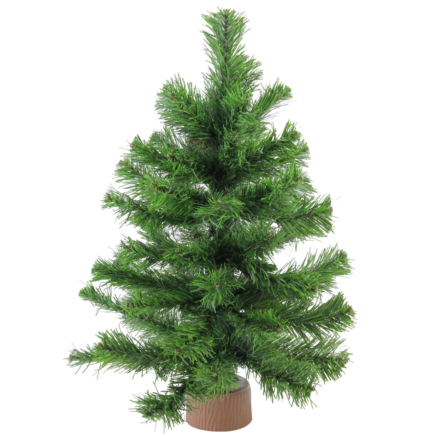 Northlight 18 Mini Pine Artificial Christmas Tree In Faux Wood Base