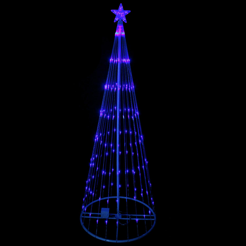 6' Blue LED Light Show Cone Christmas Tree Lighted Yard ...