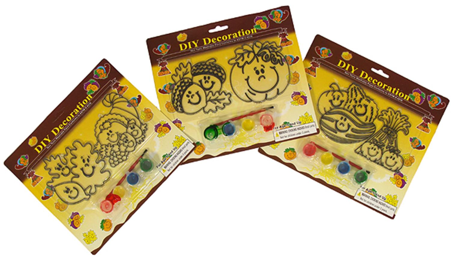 Club Pack of 288 Autumn Paint It Yourself Thanksgiving Decorations