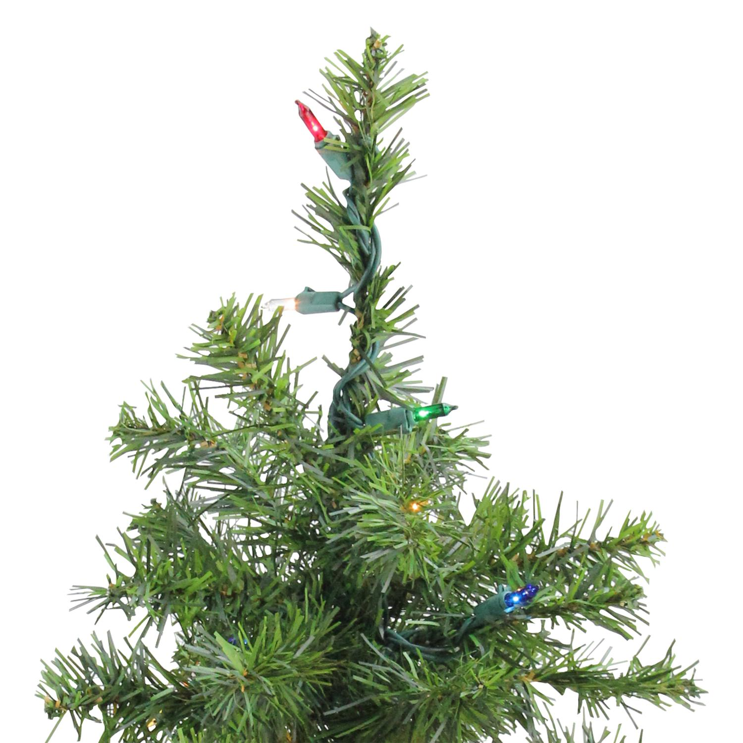 2\' Pre-Lit Natural Two-Tone Pine Artificial Christmas Tree - Multi ...
