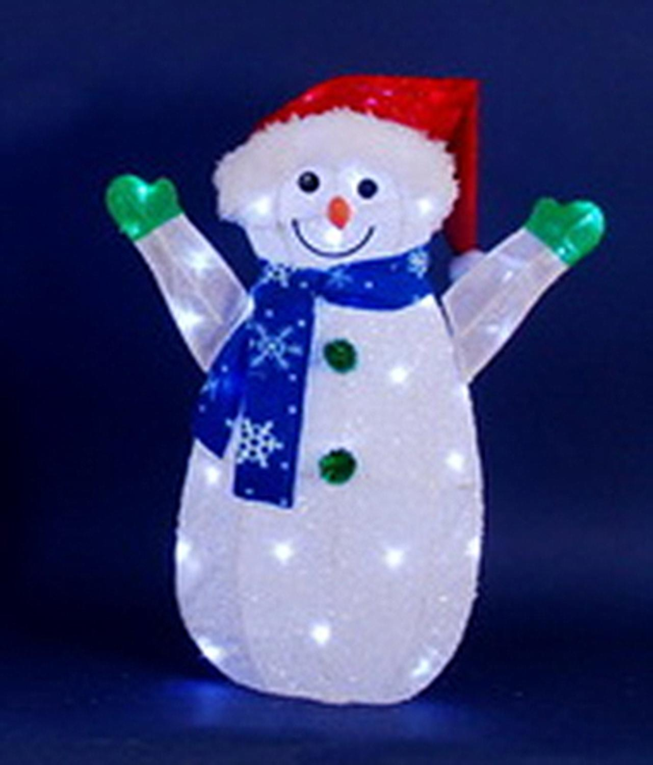 24 led lighted jolly snowman wearing santa hat christmas for 36 countdown to christmas snowman yard decoration