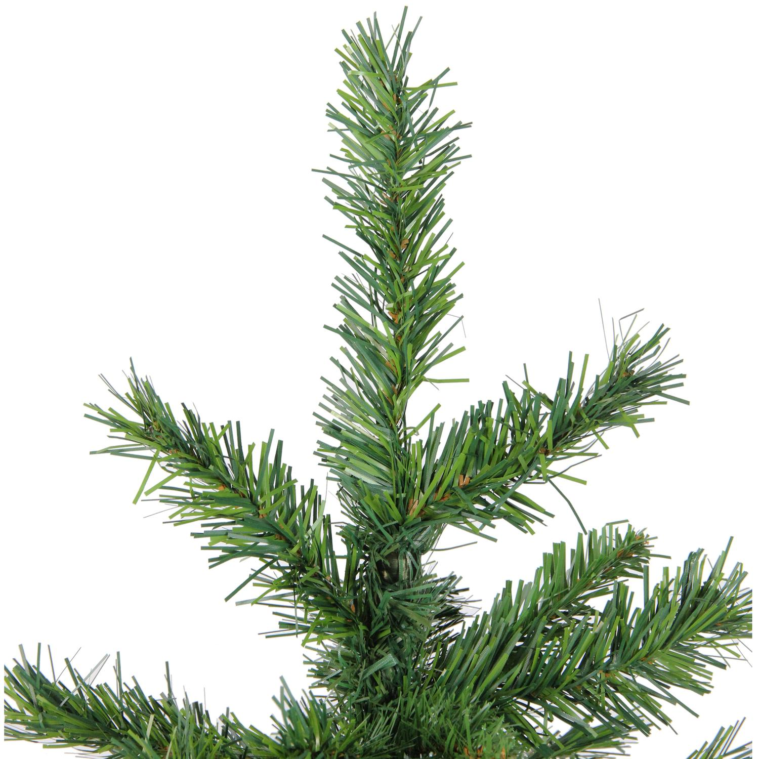 3 potted norway spruce artificial christmas walkway tree unlit