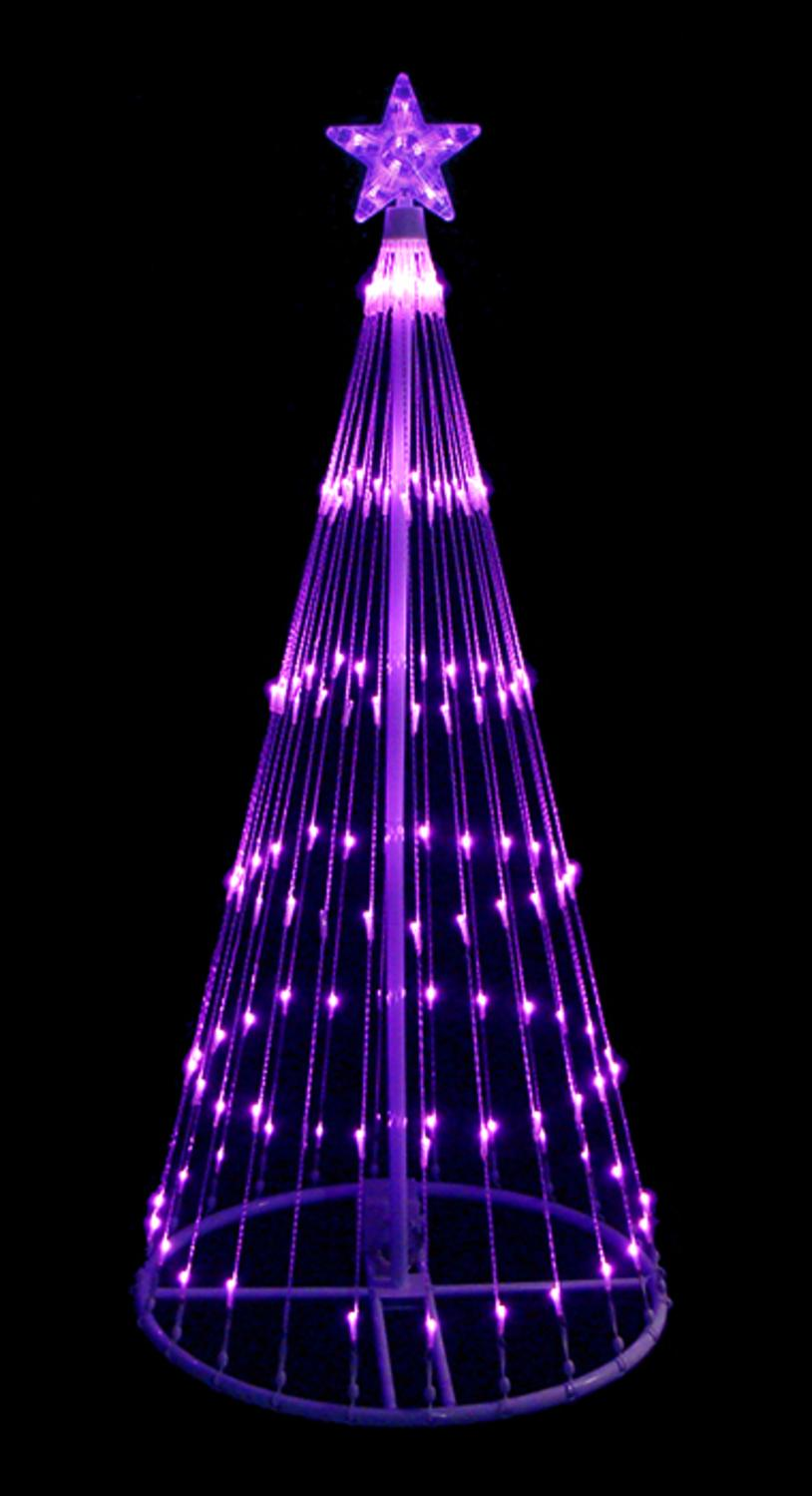 4 39 purple led light show cone christmas tree lighted yard art decoration 762152572506 ebay. Black Bedroom Furniture Sets. Home Design Ideas