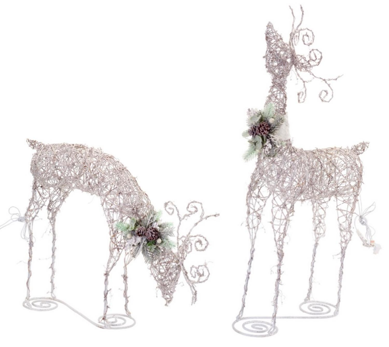 gr free front yard with Set Of 2 Led Lighted Rattan Snowy Deer Christmas Yard Art Decorations 24 4 on 351305129651 also Nfrsblog besides 361274067112 furthermore Skye Tatiana Blithe lu additionally Sichtschutz Fur Garten Selber Bauen.