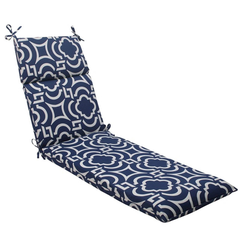 72 5 geometric navy blue sky outdoor patio chaise lounge for Blue outdoor chaise lounge