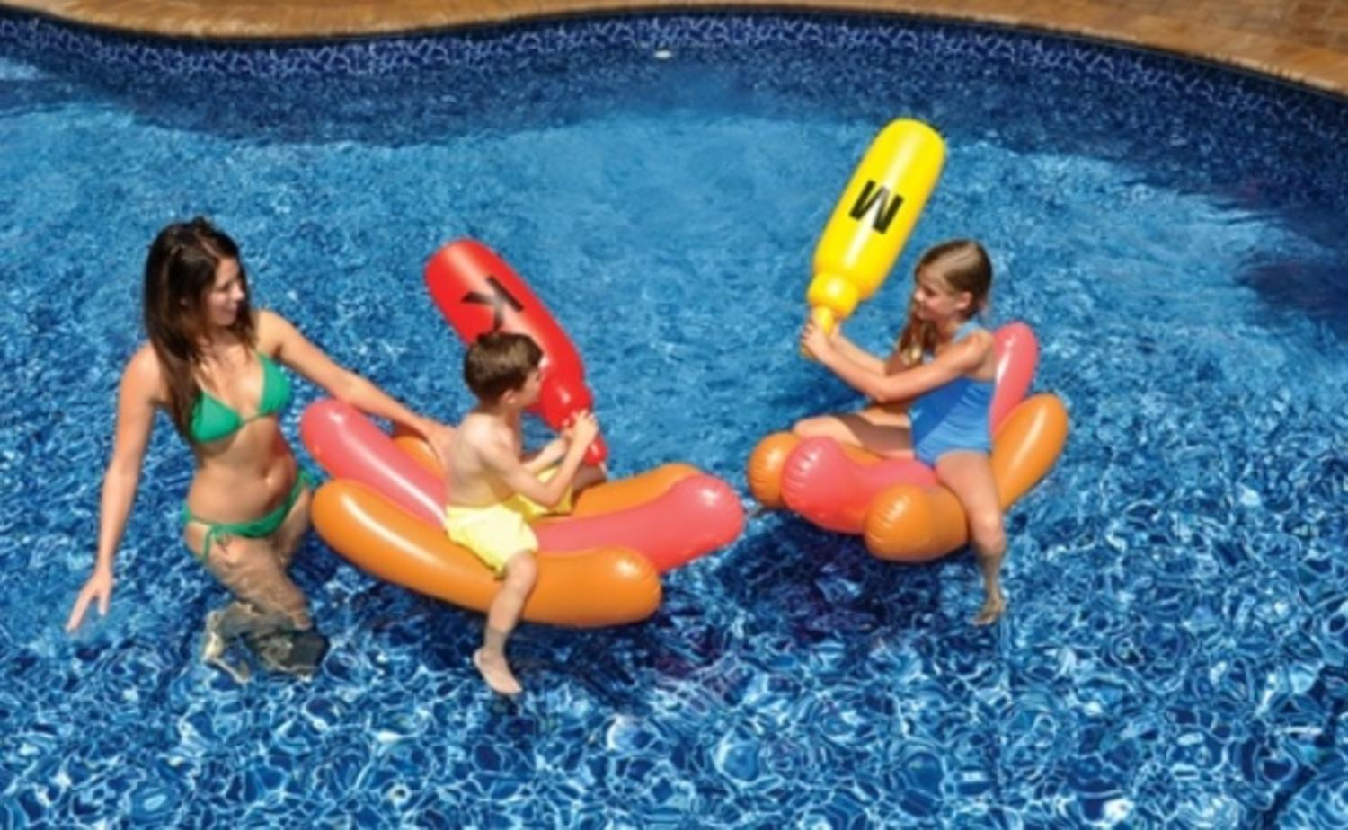 Water Sports Inflatable Swimming Pool Hot Dog Ride On