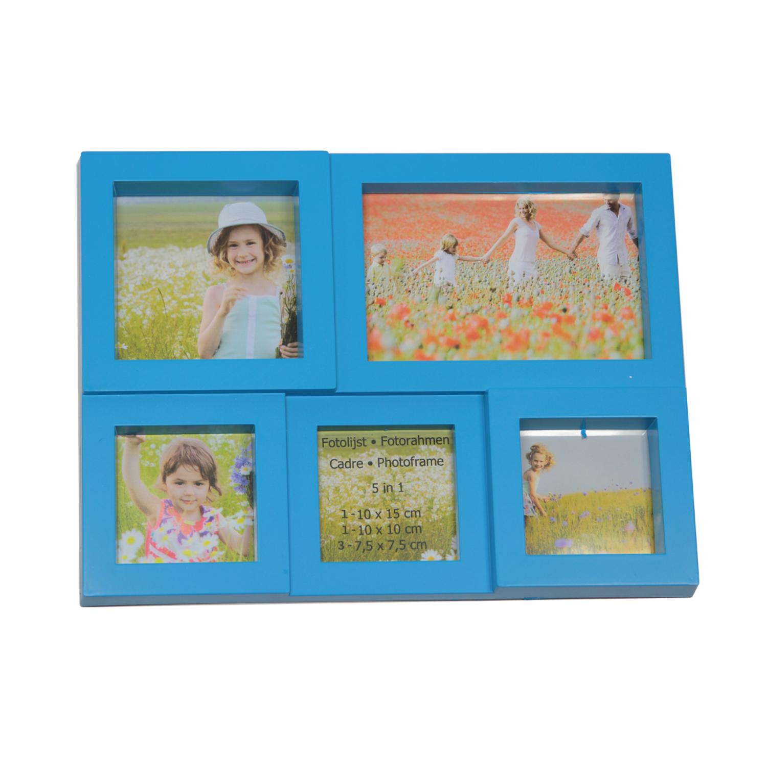 ''11.5'''' Blue Multi-Sized PUZZLEd Photo Picture Frame Collage Wall Decoration''