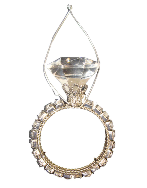 Engagement ring christmas ornament -  3 Diva Jewel Encrusted Single Band Wedding Ring Christmas