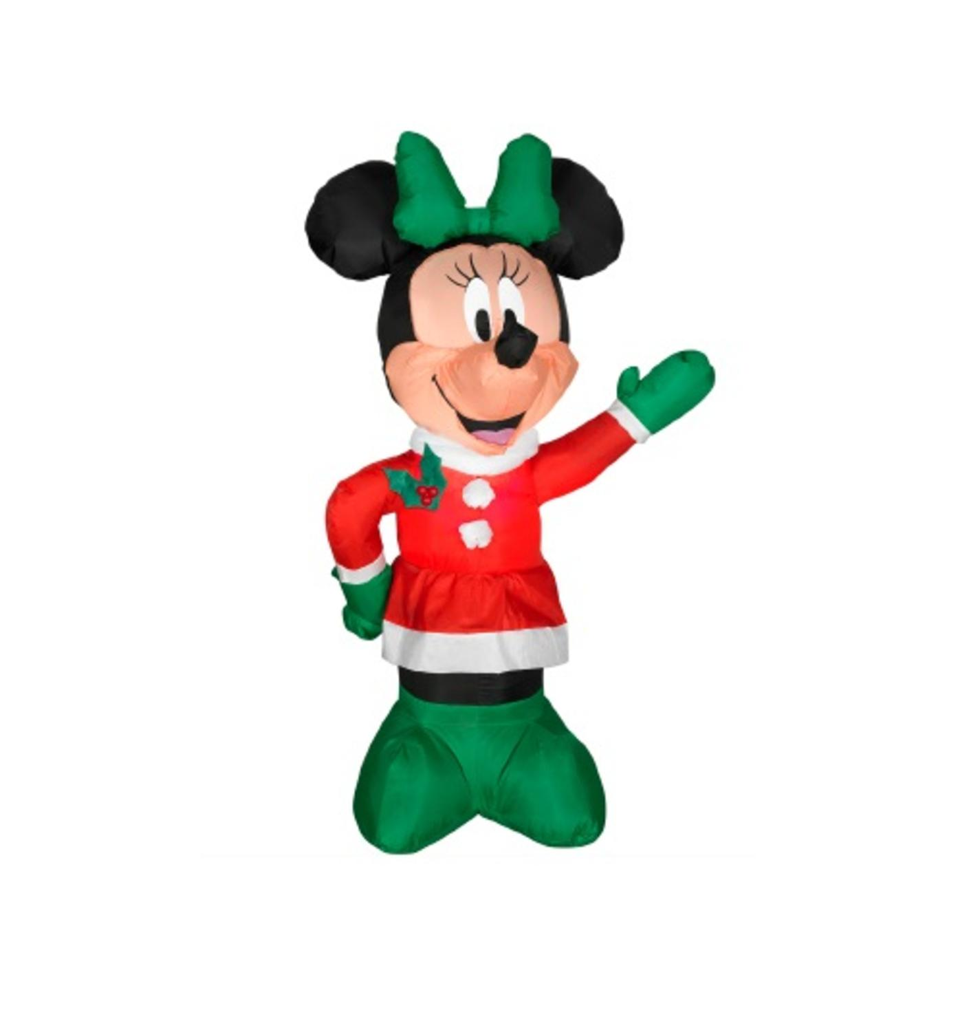3.5' Inflatable DISNEY LED Lighted Winter Minnie Mouse Christmas Yard Art Decoration
