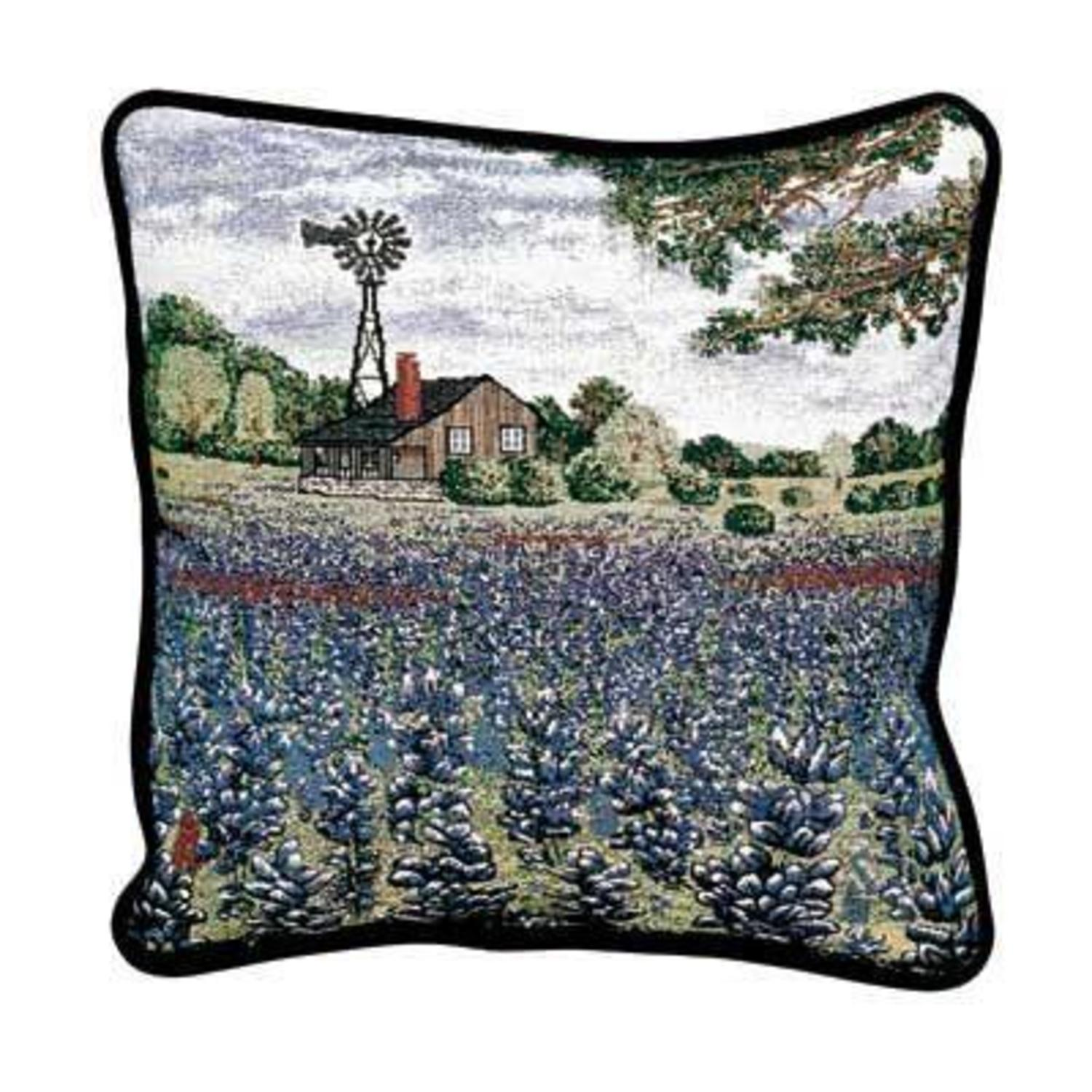 Throw Pillow Deals : Texas Bluebonnets Decorative Accent Throw Pillows 17