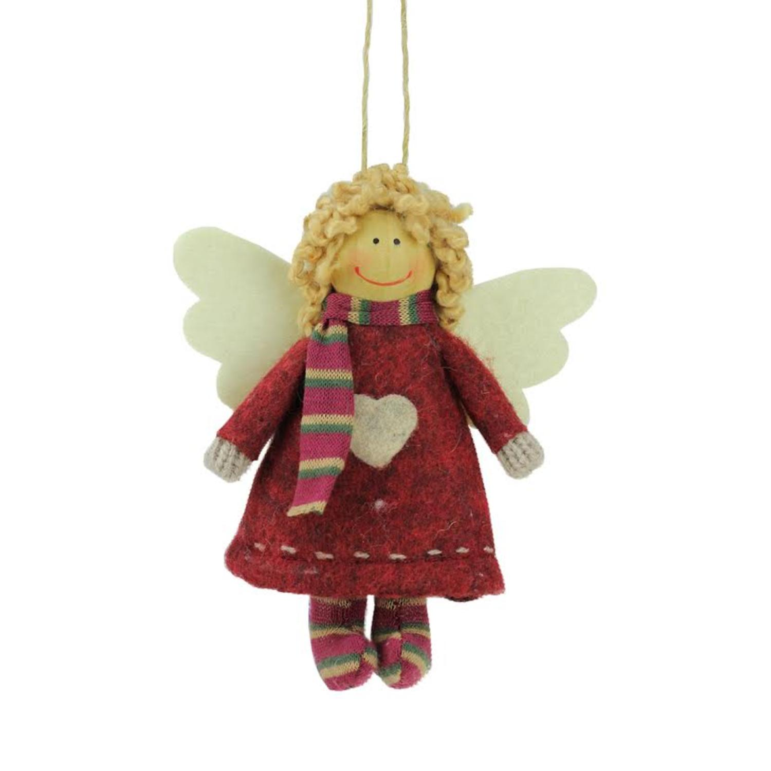 ''4.25''''  Hannah the HOLIDAY Angel Decorative Hanging Christmas Ornament''
