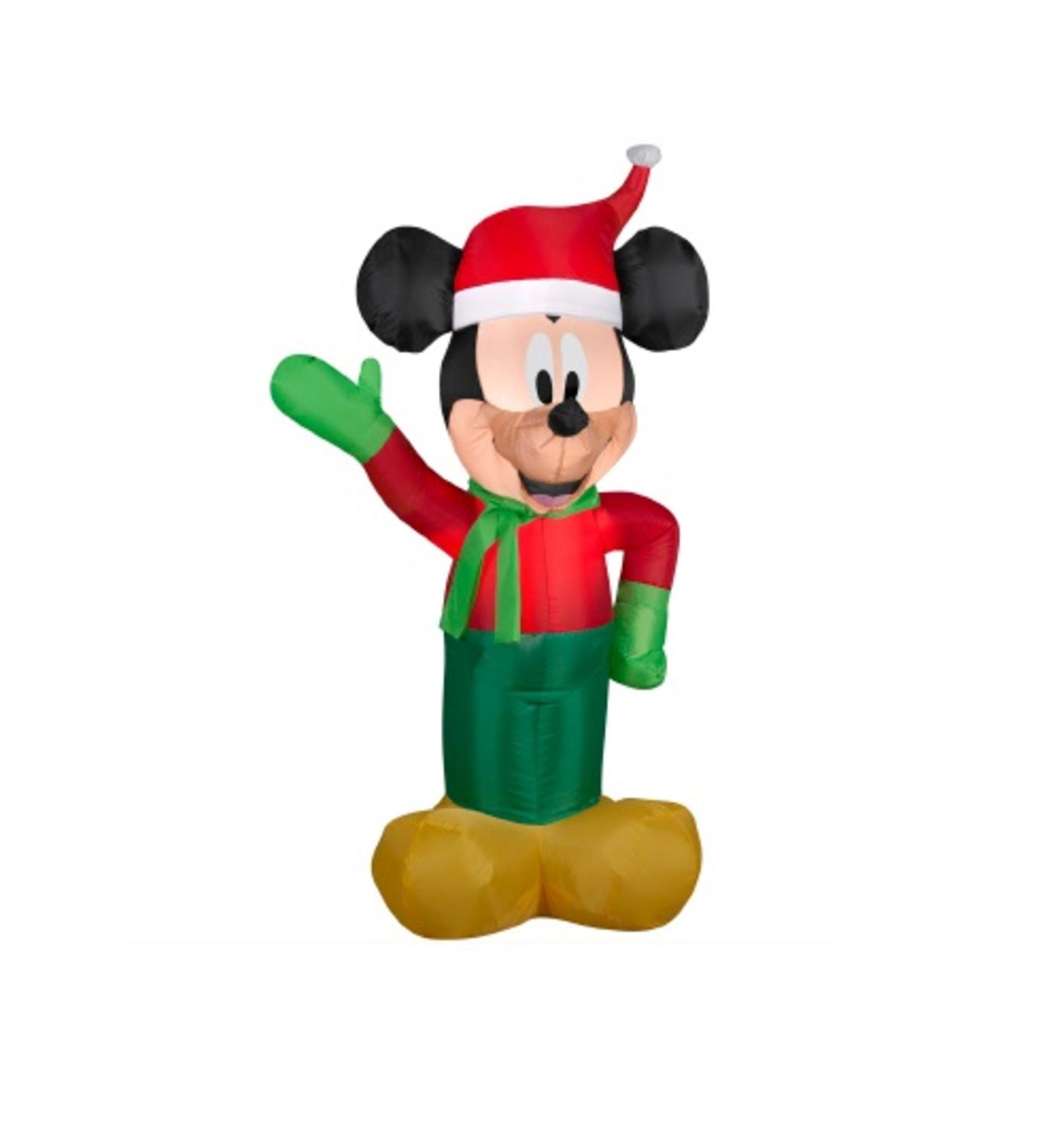 3.5' Inflatable DISNEY LED Lighted Winter Mickey Mouse Christmas Yard Art Decoration