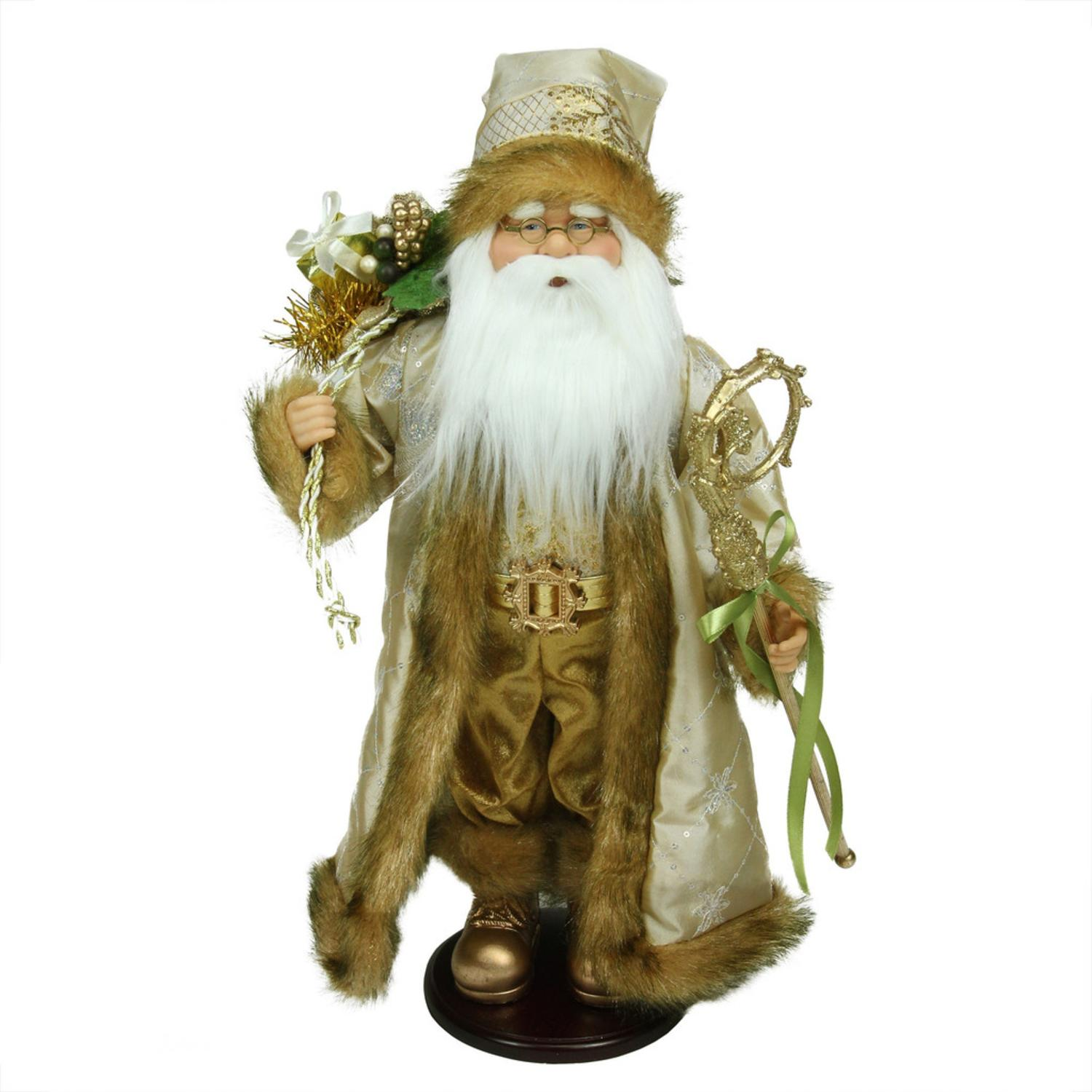 ''18.25'''' Winter Light Santa Claus with Jacquard JACKET Christmas Decoration''
