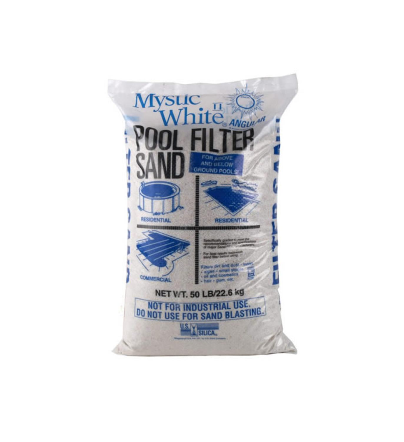 mystic white ii swimming pool filter sand 50lb bag ebay. Black Bedroom Furniture Sets. Home Design Ideas