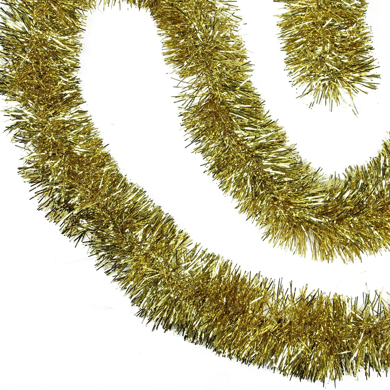 Shiny gold festive christmas foil tinsel garland