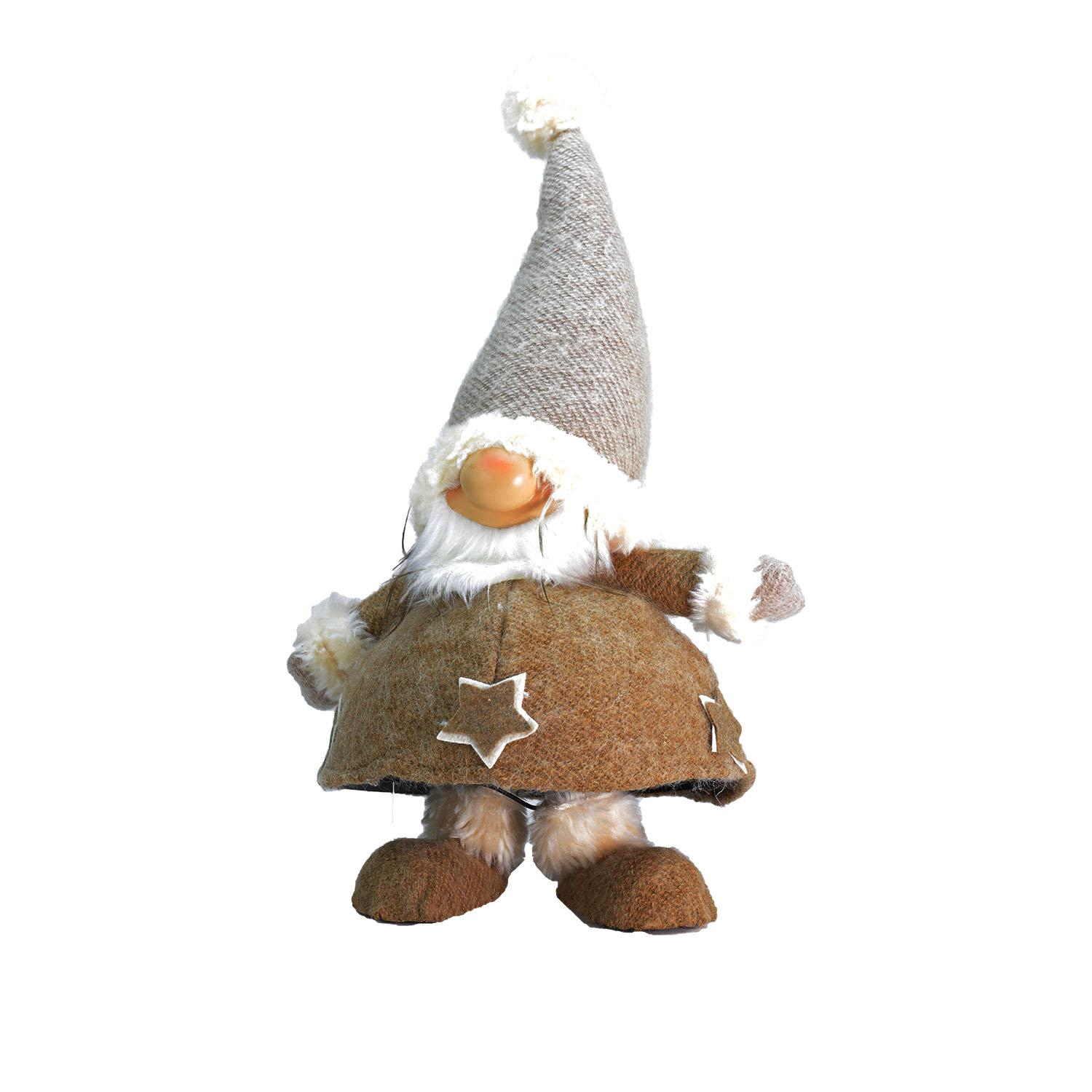 ''18'''' Plush and Portly Champagne Bobble ACTION Gnome Christmas Tabletop FIGURE''