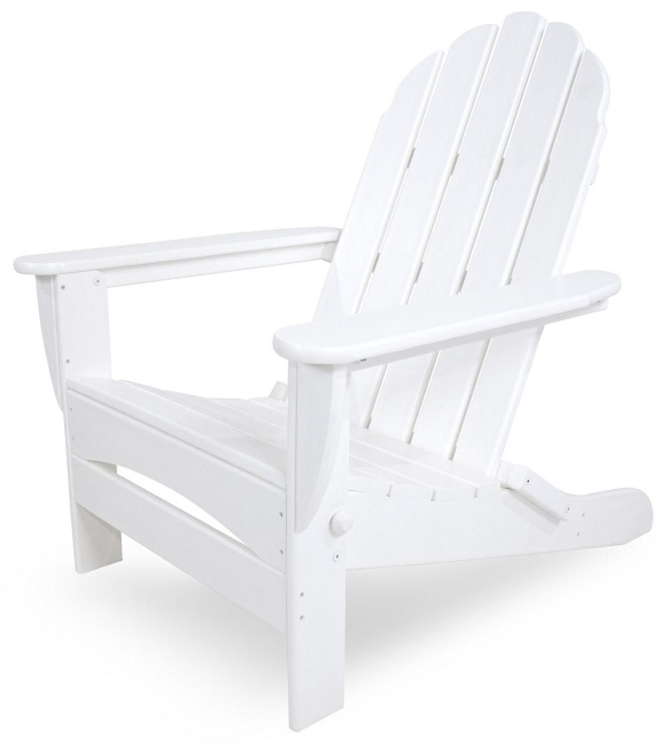 recycled earth friendly outdoor patio adirondack chair white tanga. Black Bedroom Furniture Sets. Home Design Ideas