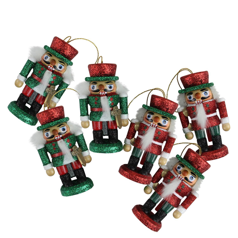 Kurt Adler 6 Red Green Wood Nutcracker Card Holder Christmas ...