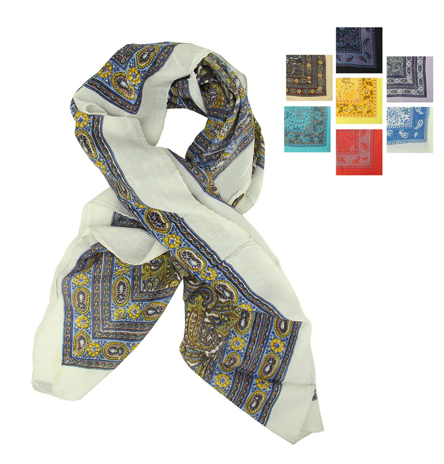 ''Pack of 6 Women's Contemporary Colorful Stylish Large Fashion Scarf Shawls 41'''' x 41''''''