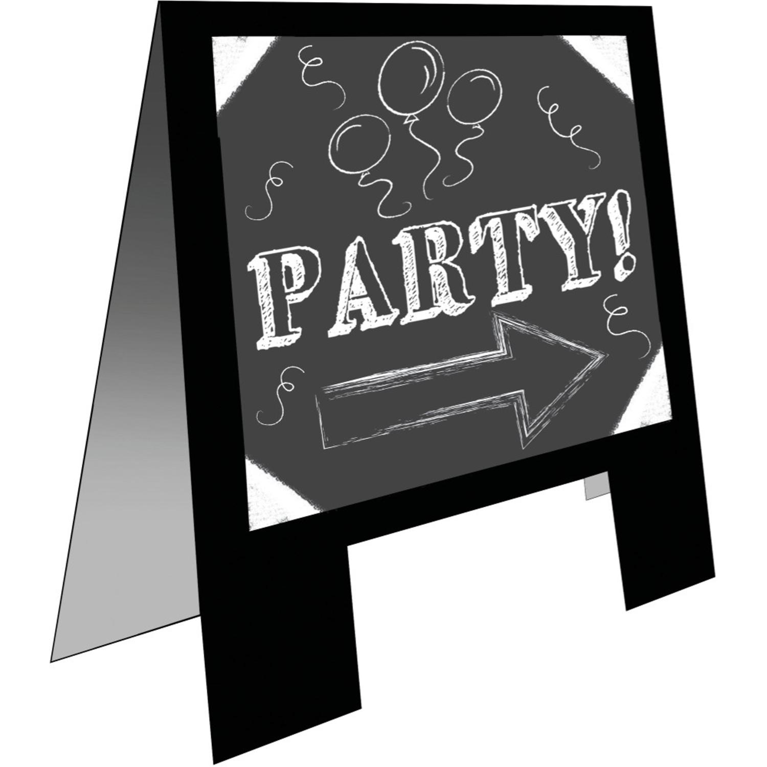party central pack of 6 one sided black free standing chalkboard easel - Nightmare Before Christmas Board Game
