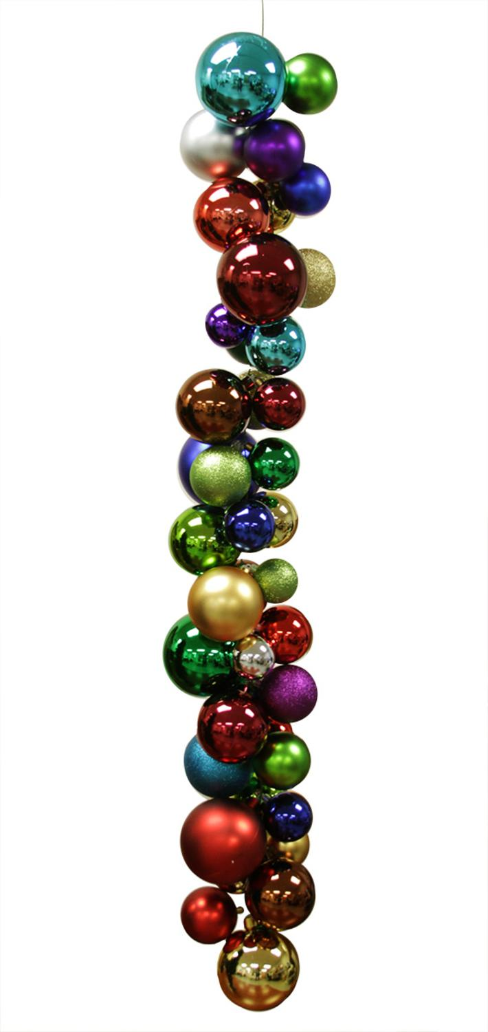 "50"" Multi-Colored Shatterproof Commercial Size Christmas ..."