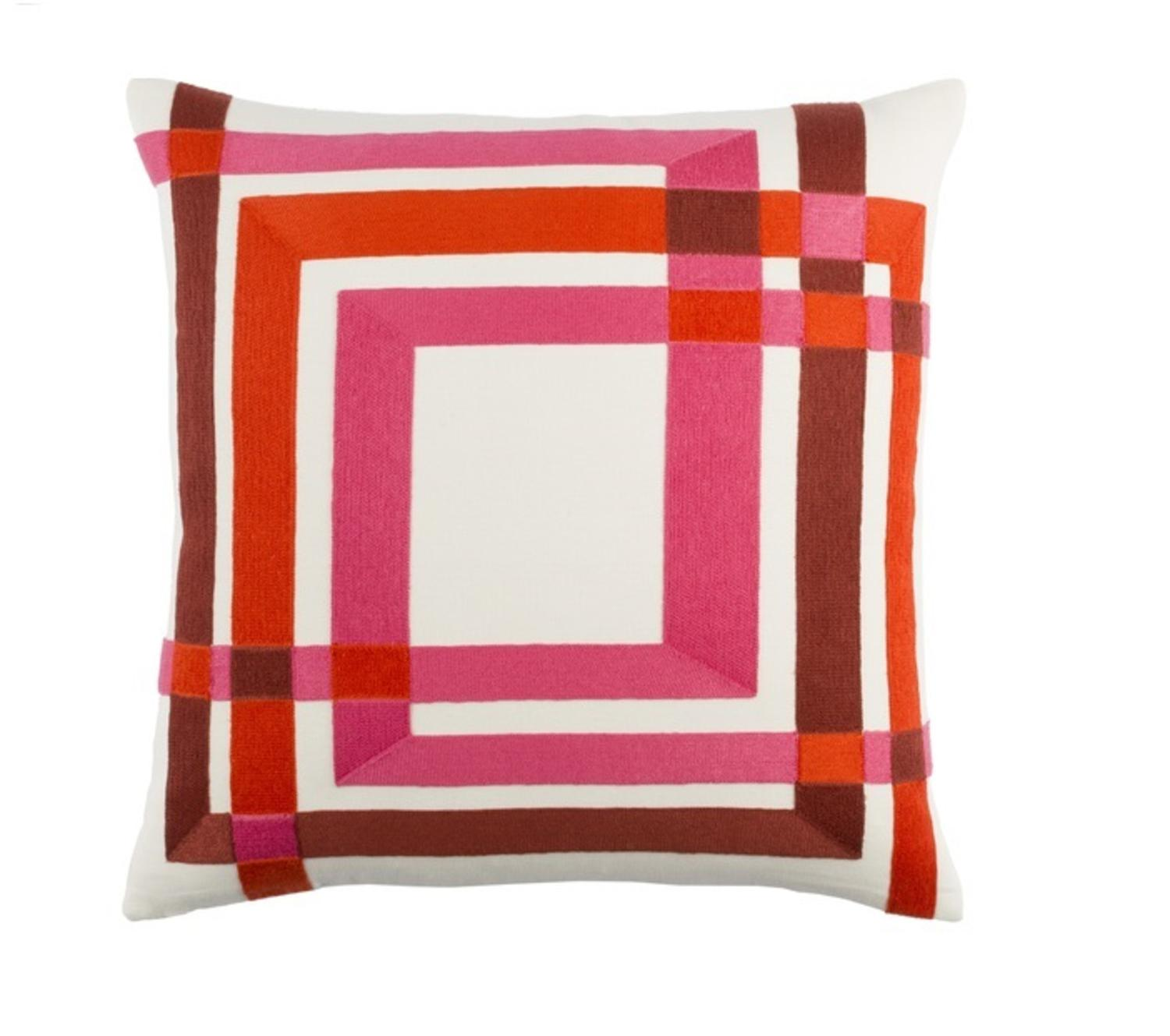 Hot Pink And Orange Throw Pillows : 20