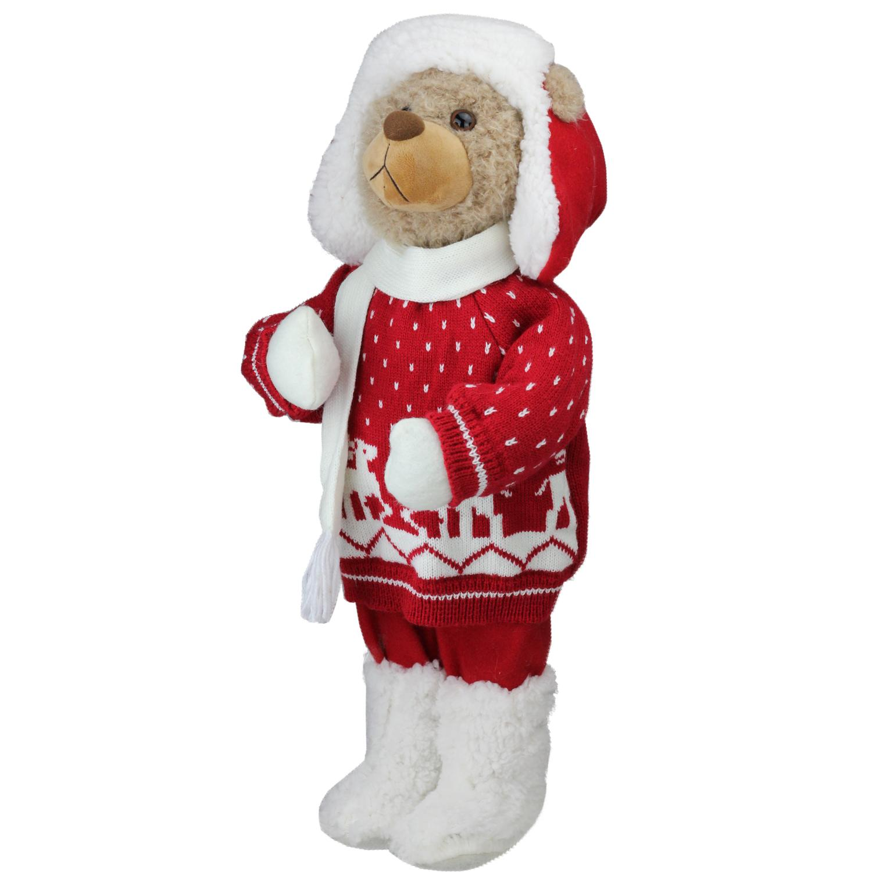 ''20'''' Retro Christmas Boy Brown Winter Bear in Deer SWEATER Christmas Figure Decoration''