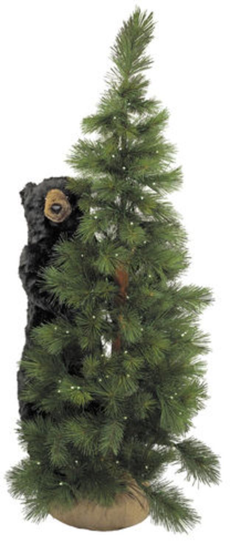 6' Pre-Lit Scotch Pine Artificial Christmas Tree with ...