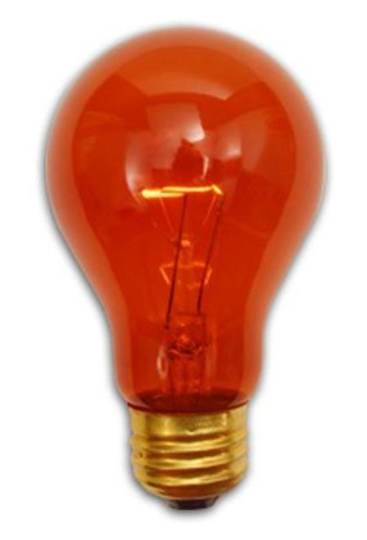 Pack Of 25 Transparent Amber E26 Base Replacement A19 Light Bulbs 25 Watt Tanga