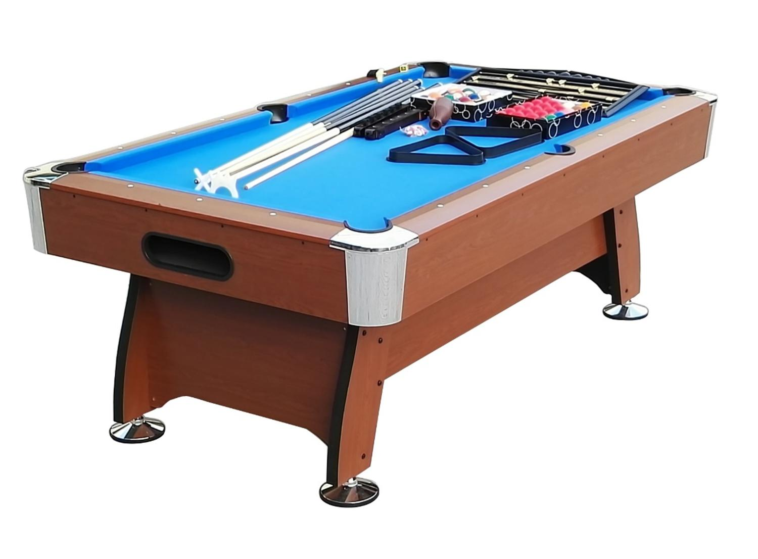 6' x 3.3' Brown and Blue Deluxe Billiard Pool and Snooker GAME Table