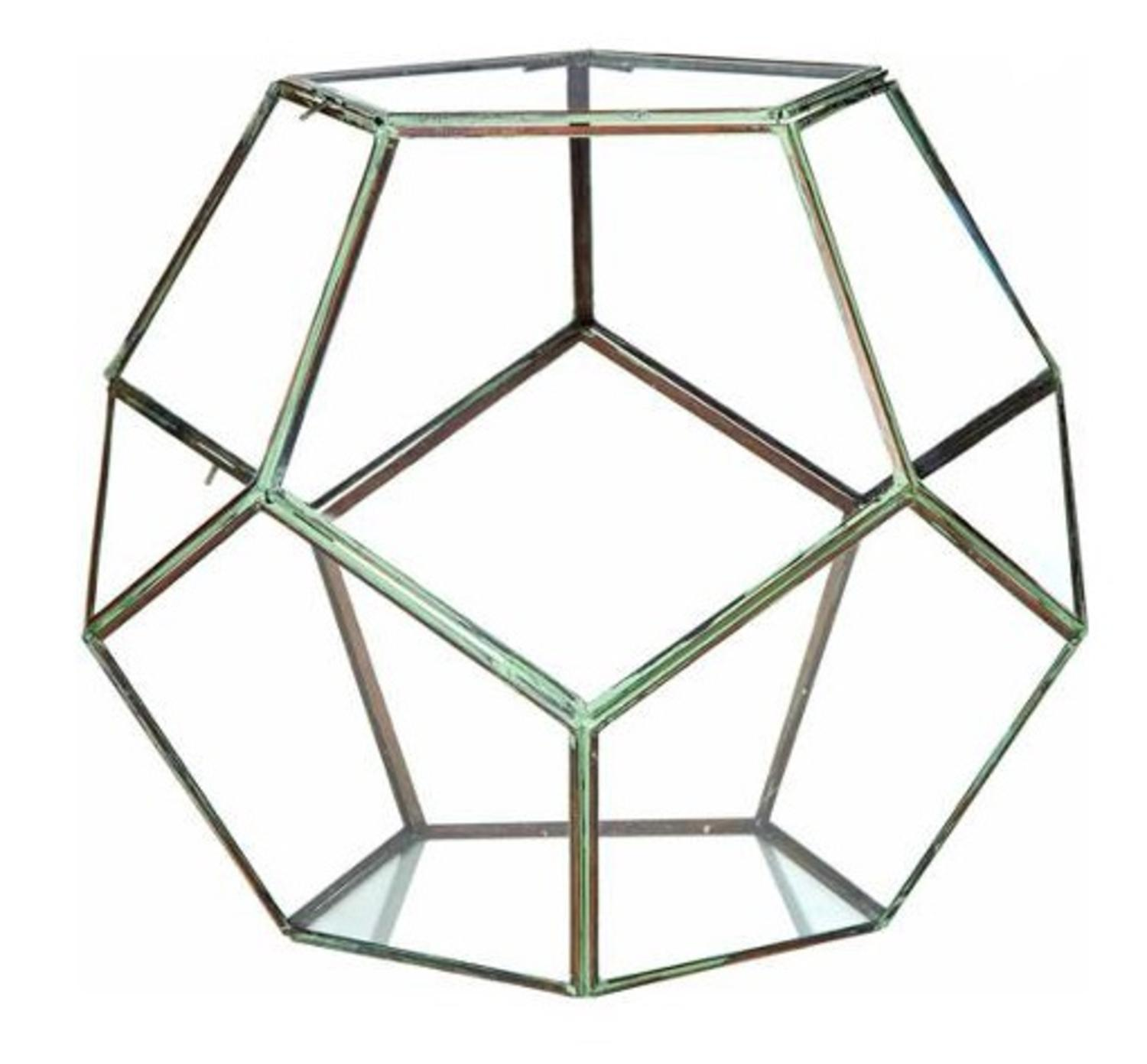 Cc Home Furnishings 14 Table Geodesic Terrarium Double Hinged Doors