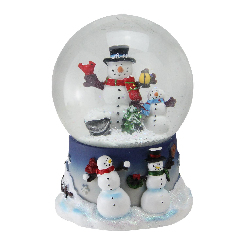 Christmas Musical Snow Globe Snowman and Snow-Son US | eBay