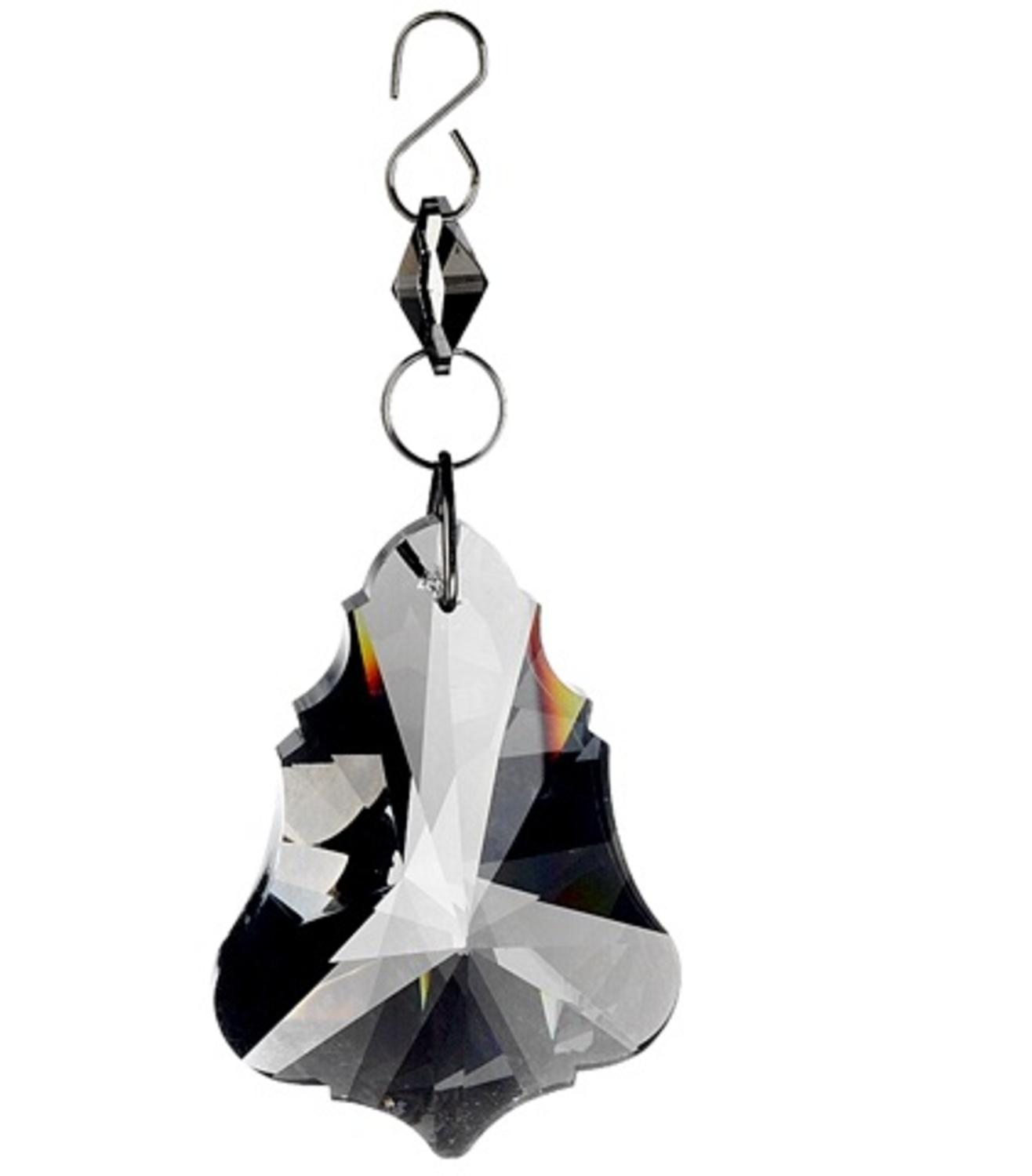 ''5'''' Seasons of Elegance Smokey Gray Prismatic Jewel DANGLE Christmas Ornament''