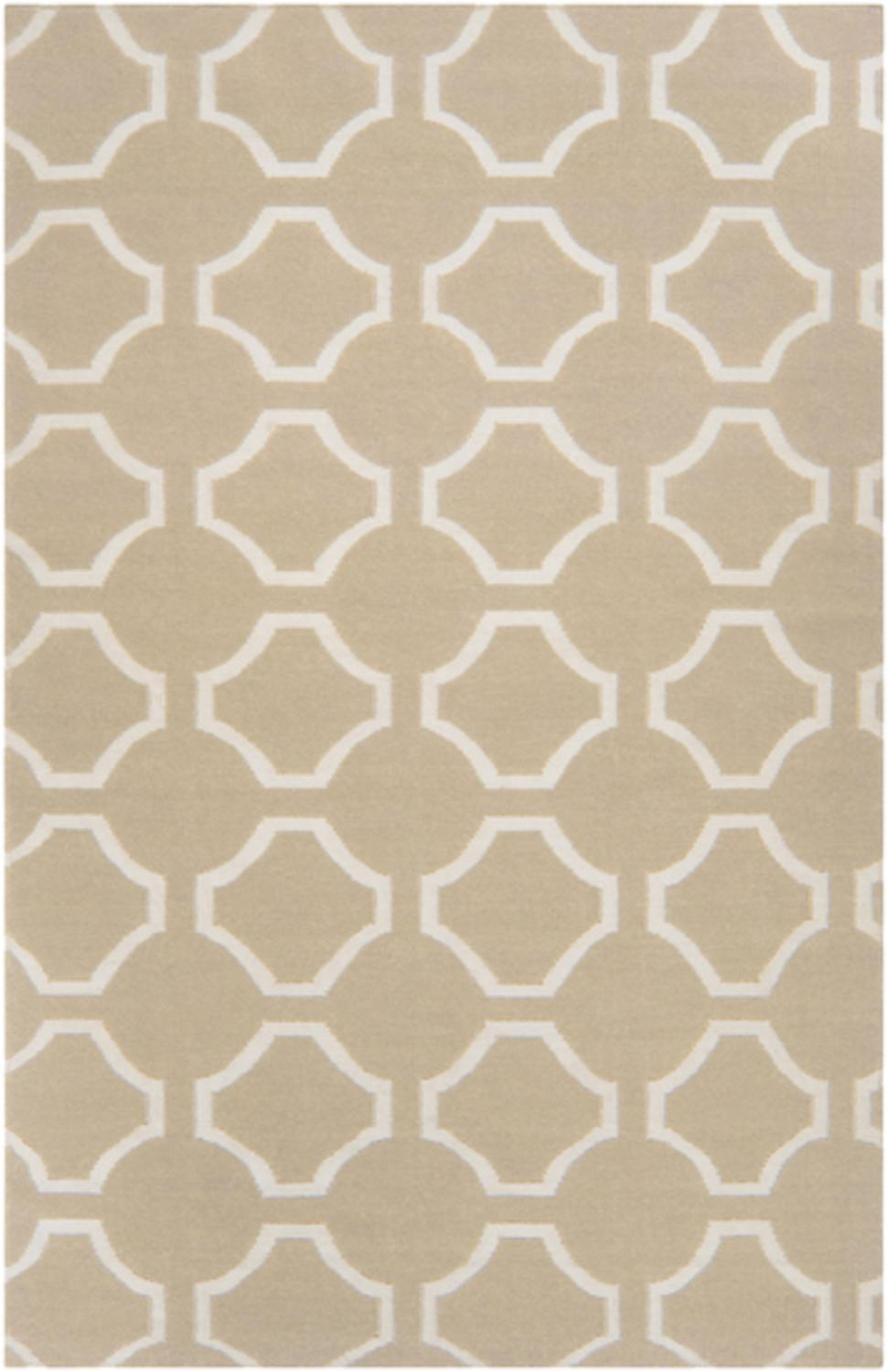8 39 mellow web parchment tan and white hand woven wool for Best area rug websites