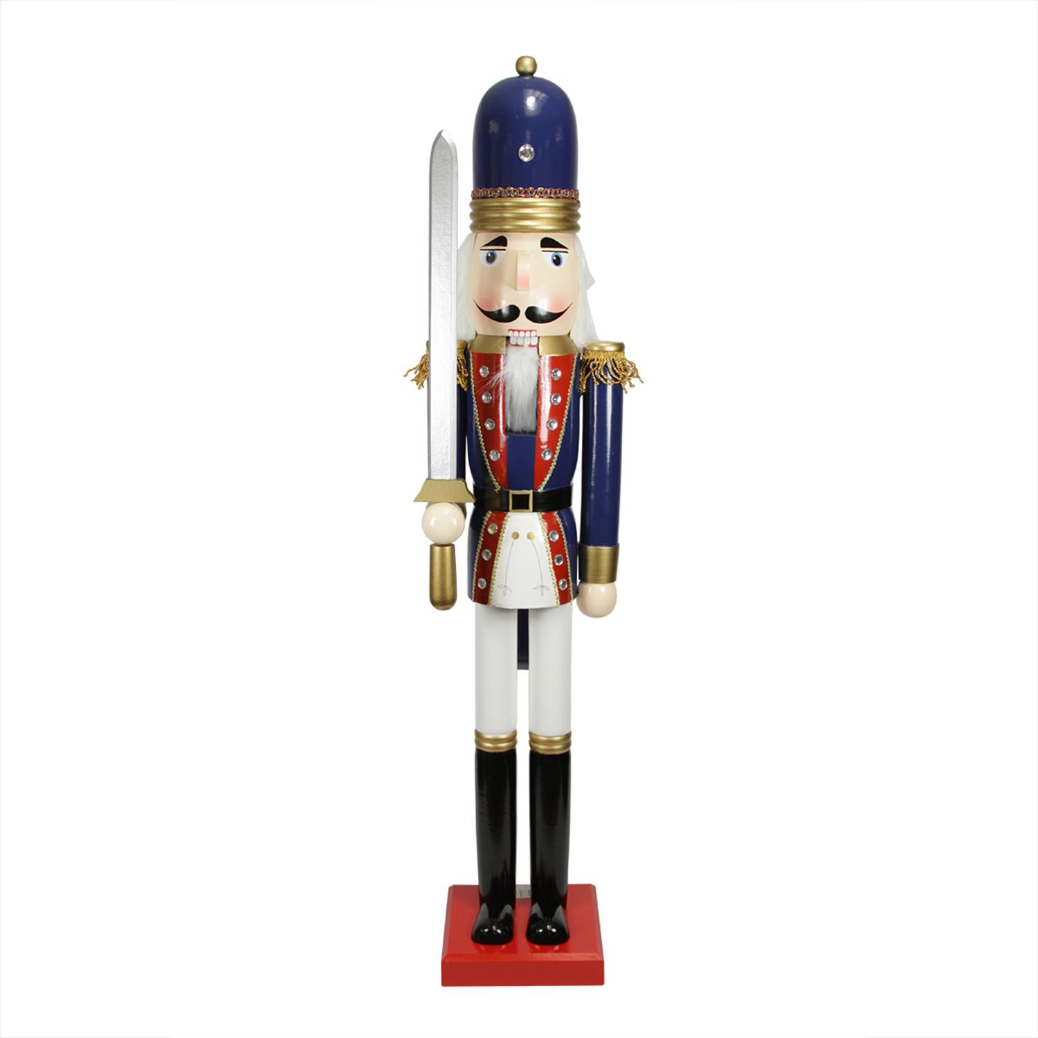 ''48'''' Decorative Blue Solider Wooden Christmas Nutcracker with SWORD''