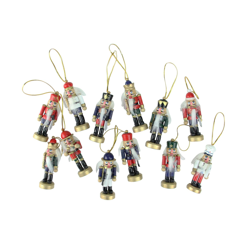 Northlight 12-Piece Red Blue Mini Christmas Nutcracker Ornaments ...