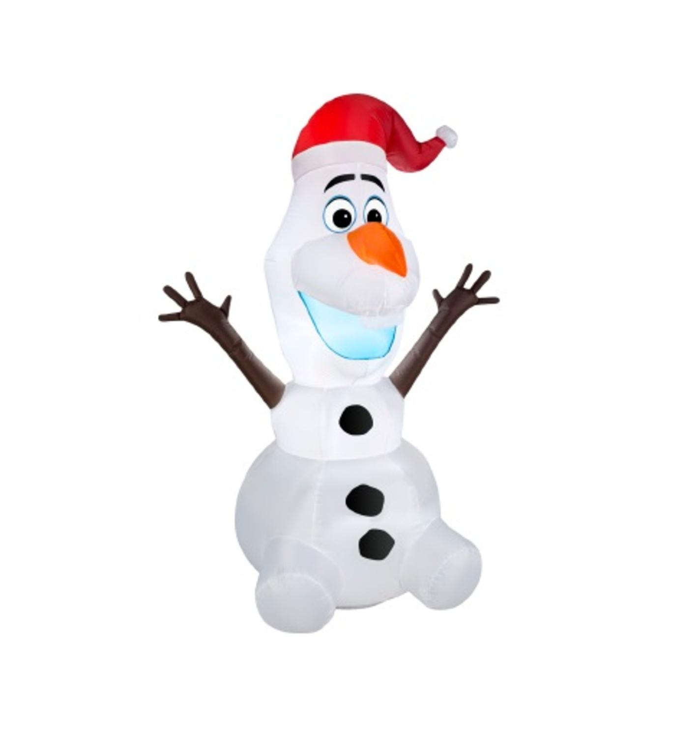 3.5' Inflatable DISNEY Frozen LED Lighted Olaf Christmas Yard Art Decoration