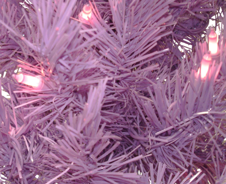 7.5' Vivid Purple Slim Pre-Lit Lakewood Spruce Artificial