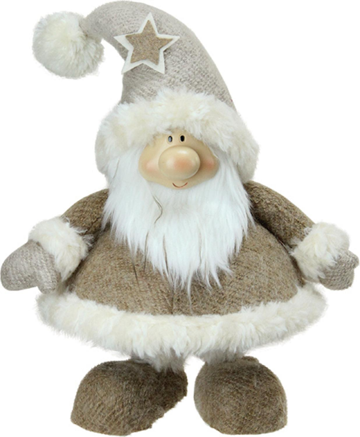 ''14.5'''' Plush and Portly Champagne Bobble ACTION Gnome Christmas Tabletop FIGURE''