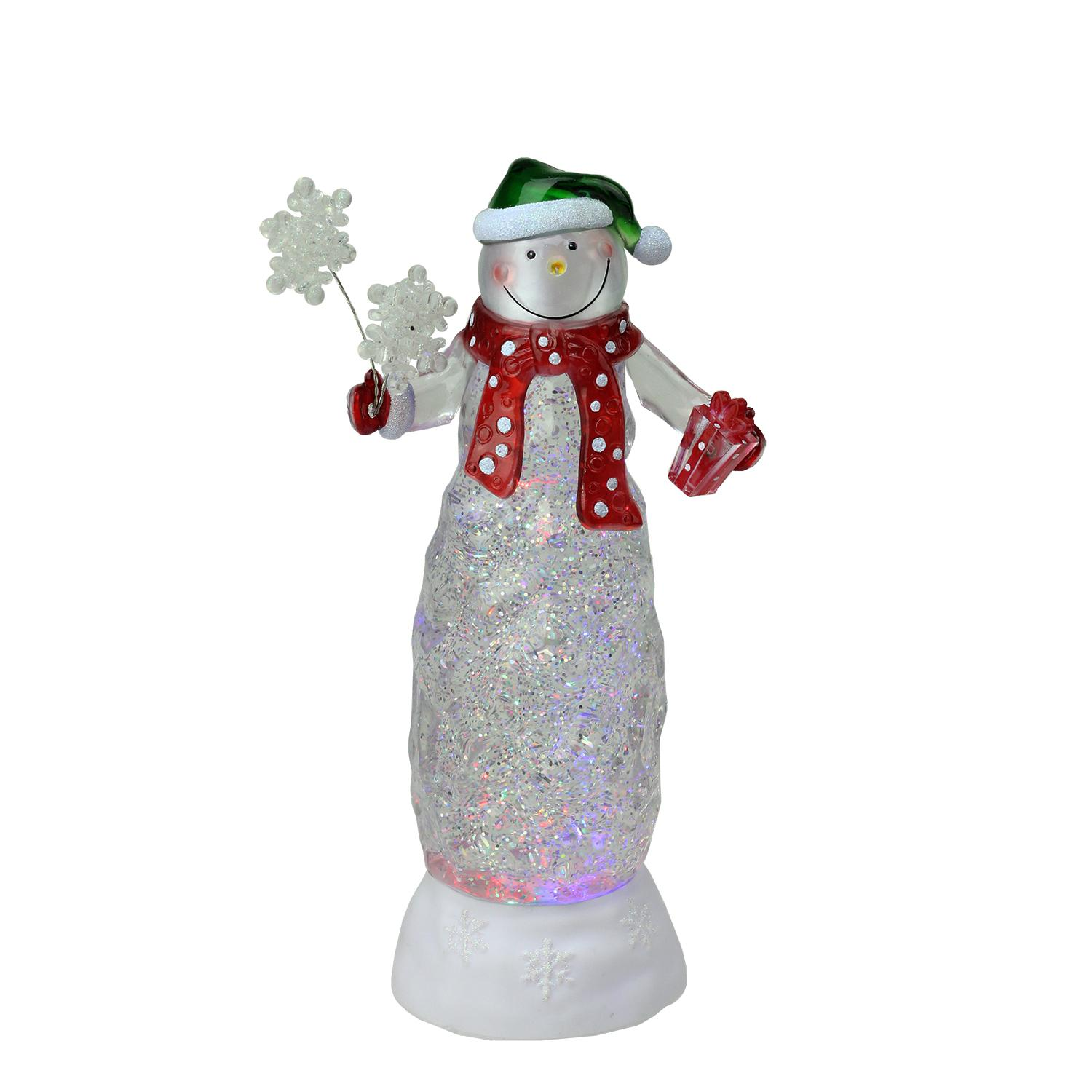 11 swirling glitter led lighted snowman gifts table top for Christmas decoration stuff