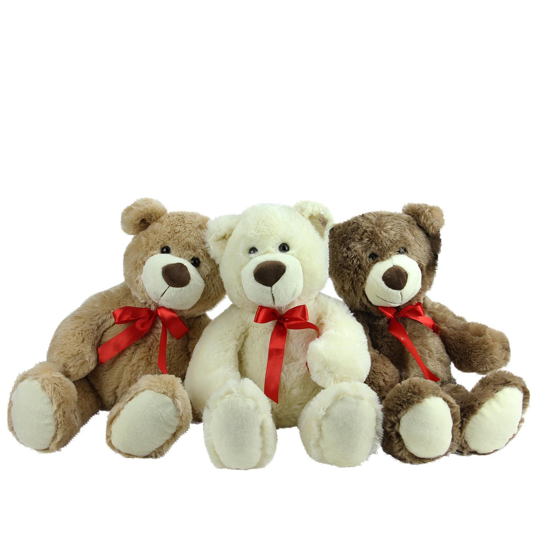 ''Set of 3 Brown  Tan & Cream Plush Children's Teddy Bear STUFFED ANIMAL Toys 20''''''