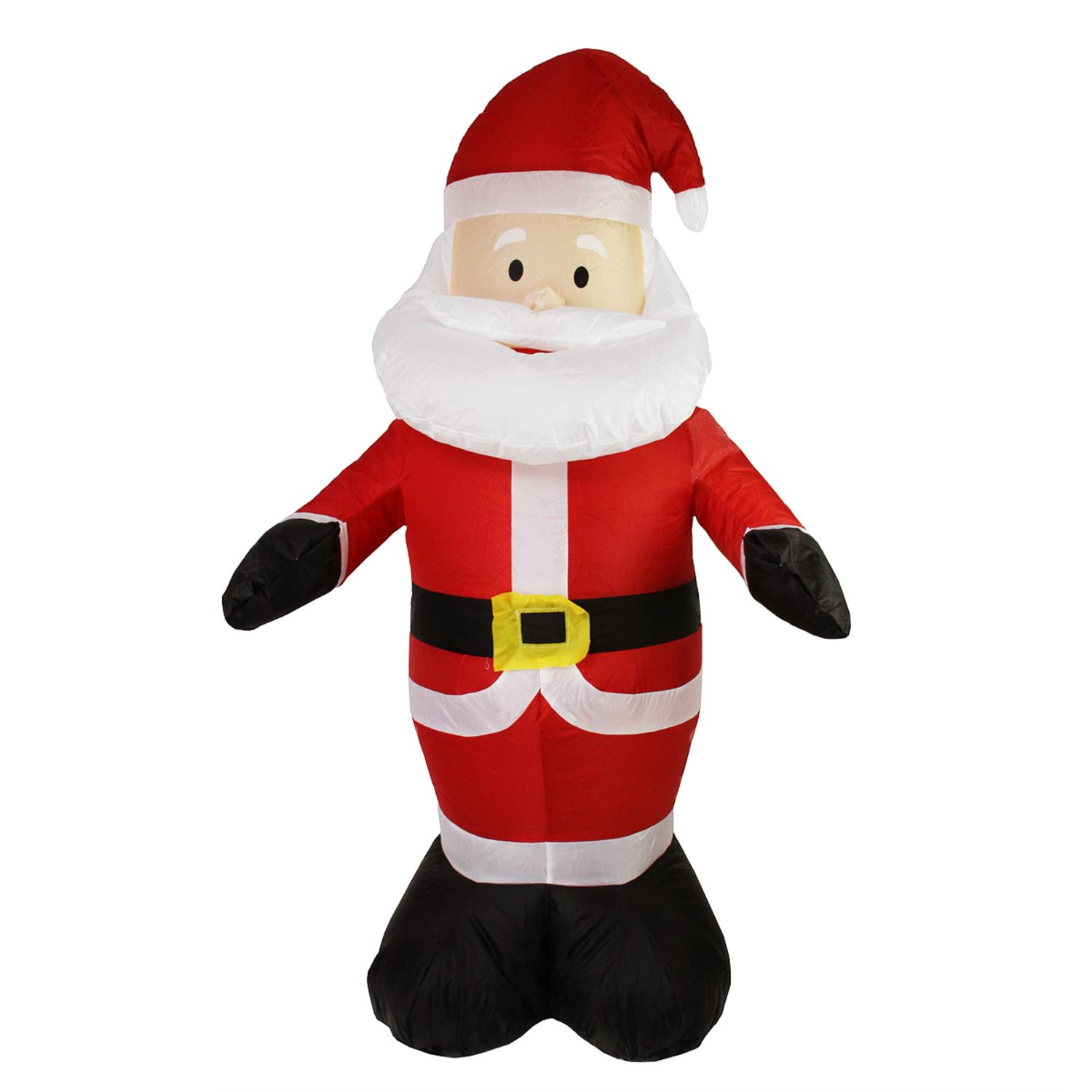 Inflatable lighted santa claus christmas yard art