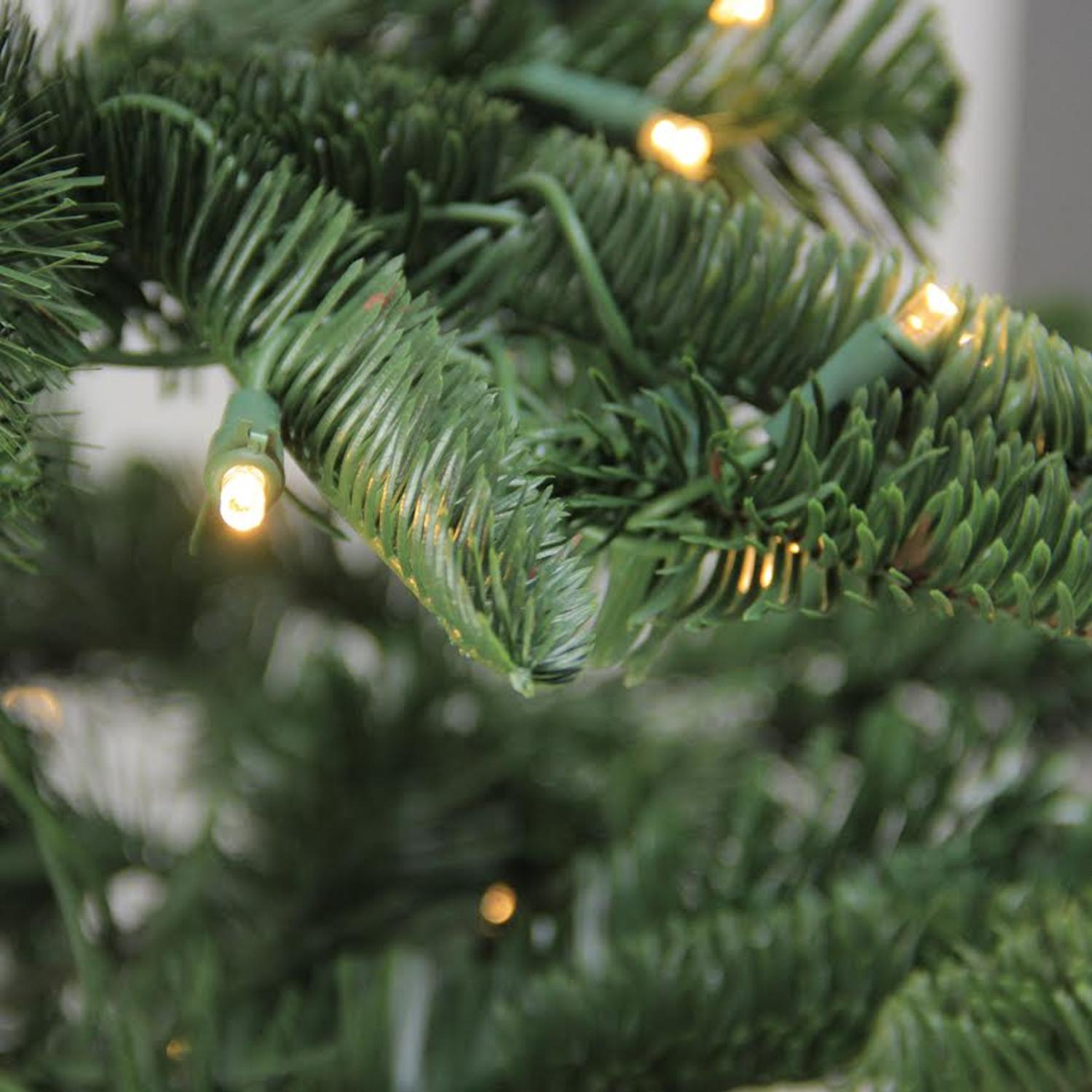 Northlight 7.5\' Layered Noble Fir Artificial Christmas Tree Clear ...