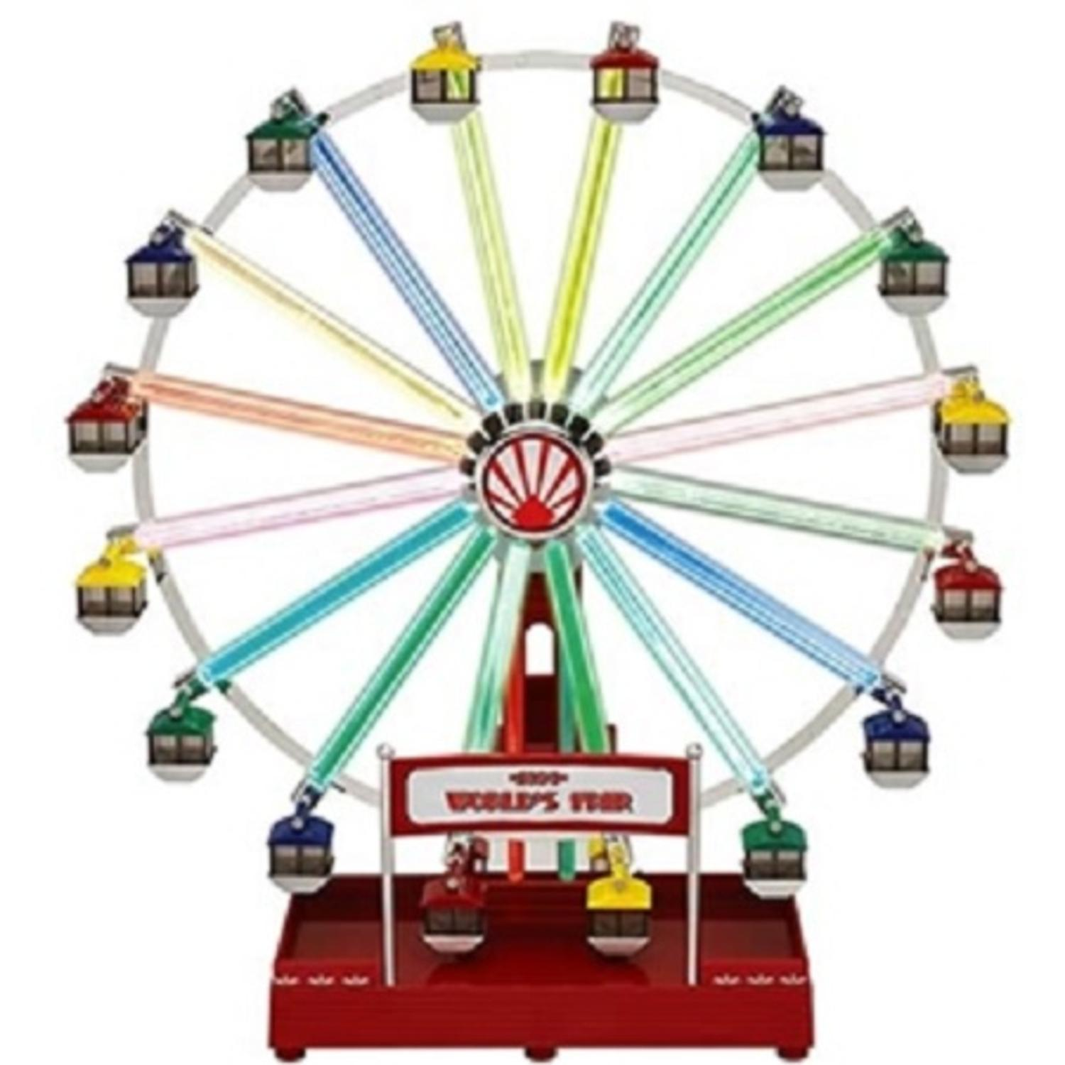 mr christmas animated musical led 1939 worlds fair ferris wheel decoration 79799 - Christmas Ferris Wheel Decoration