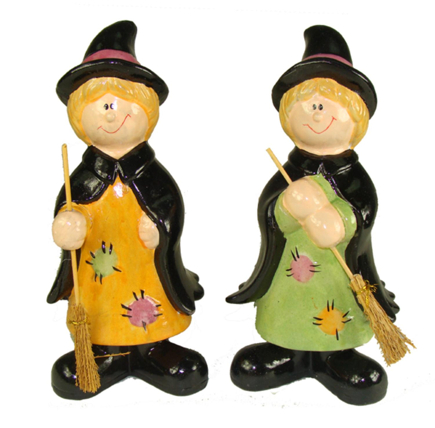 ''Club Pack of 36 Friendly Halloween Witch Table Top Figurines 8''''''